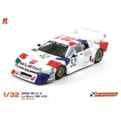 BMW M1 Gr.5 Le Mans 1981 n.52 Wurth Racing AW