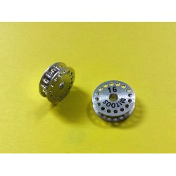 Polea dentada MXL z16 aluminio con tornillo M2,5 - 1ud