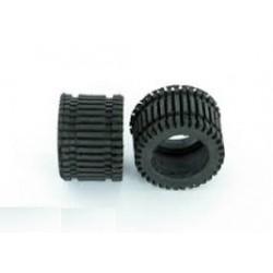 Neumático slick rallado 1/24 (x4)
