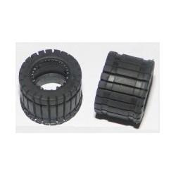 Neumático slick rallado chapo 1/24 (x2)