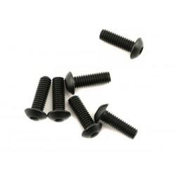 Screws, 4x12mm button-head machine (hex drive) (6)