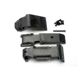 TRX-5337 - Skid plate set, front (2 pieces, plastic)/ skid