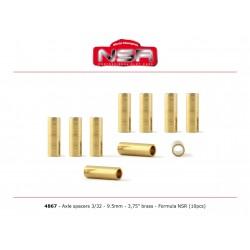 Espaciadores eje 3/32 9,5 mm Formula 1