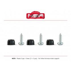 Topes de fijacion soporte de motor Formula 1