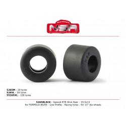 Neumaticos traseros perfil bajo 19x13,5 Formula1