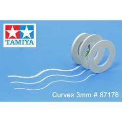 TA87178 - Cinta adhesiva de enmascarar para curvas 3mm de Tamiya