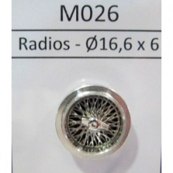 2 llantas R6 Clásica de radios 16,7 x 5,7