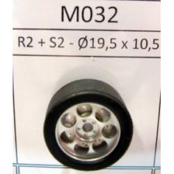 2 Llantas R2 16.7X8.5 con neumáticos S2