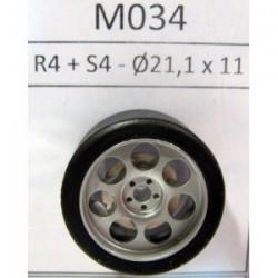 2 llantas R4 18,7x10,5 con neumáticos S4