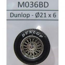 2 llantas Radios con neumáticos C2 Classic 21x6 Dunlop