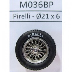 2 llantas Radios con neumáticos C2 Classic 21x6 Pirelli
