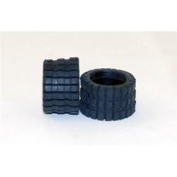 2 Neumáticos slick rallado ancho R chapo 19,5x11