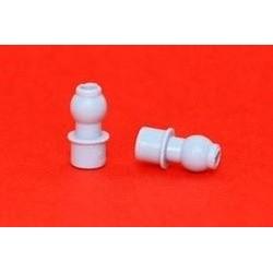 2 Cojinetes bola - teton nylon D-5mm