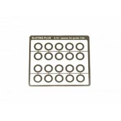 Separador acero inox 0,1mm para guia 1/32 (x20)