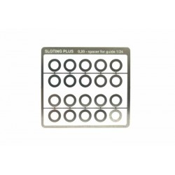 Separador acero inox 0,2mm para guia 1/32 (x20)